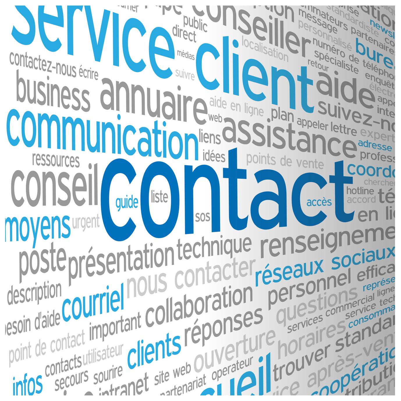 CONTACT (service clients coordonnées accueil aide
